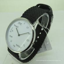 Fabricación del reloj del OEM del material del género y del acero inoxidable de los hombres