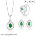 63833 Xuping Fashional Elegant Luxury Rhodium color Zircon Jewelry Set