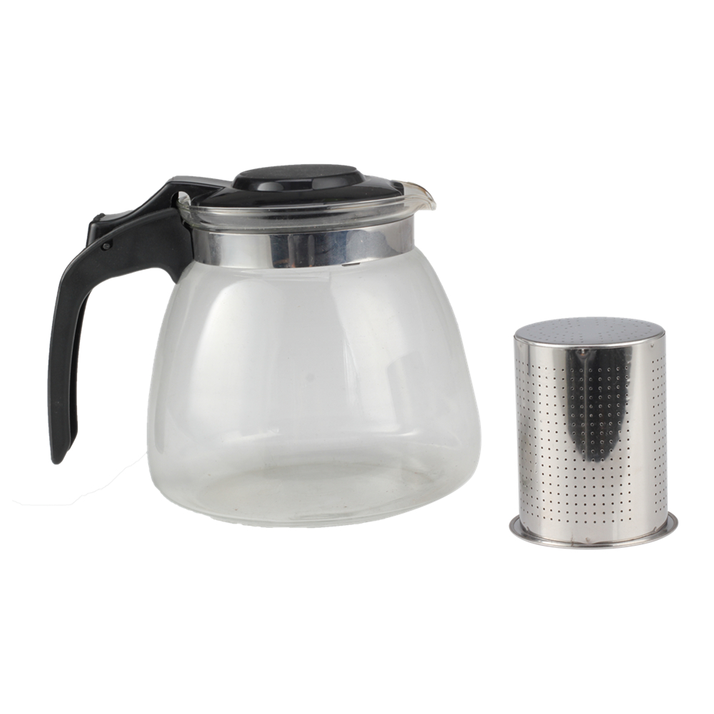 Food Grade Stainless Steel Filter Of Multi Functional Glass Tea Pot
