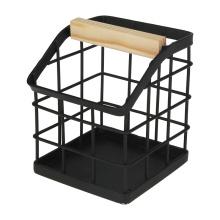 Factory Wholesale Custom Office Table Top Metal Wire Black Desk Organizer Pen Holder