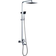 Mezclador de la ducha del cuarto de baño del cuadrado de los latonales sólidos (1010)