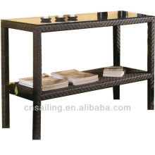 Luxury Patio Easy Cleaning rattan storage ottomans