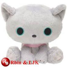 light blue color plush cat toy