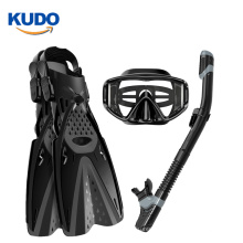 2019  dry top snorkel Scuba diving Snorkeling full face mask set with trek fins and bag