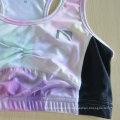 Sublimation Impression En gros Soutien-gorge Soutien-gorge Femme Spandex Yoga