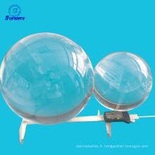 Lentilles de boule de silice de 50mm 55mm 60mm 65mm 70mm 75mm 80mm UV