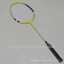 2015New Arrive Vente Chaude Wholrsale Mode Fer Jaune Et Rouge XL7013 Spécialisé Raquette De Badminton
