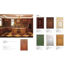 Armarios clásicos de los muebles de la cocina del vacío del PVC de la prueba del agua del estilo europeo (sistema de MOQ uno)