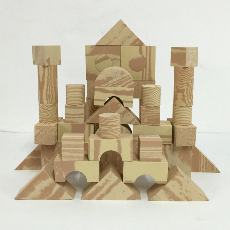 EVA Wood Grain Building Blocks
