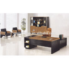 Oak melamine with wenge color executive desk for CEO office, Serval size for choose