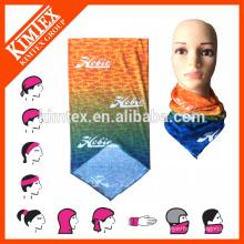 Multi tubo personalizado poliéster bufanda sin costura headwear