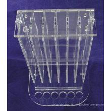 Cosméticos Minorista Stand de mostrador Pequeño acrílico transparente 6 probadores 72 piezas Lip Balm Display