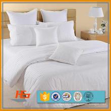 Factory Price 100% Cotton Satin Stripe Flat Sheet