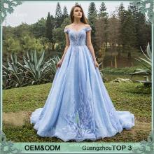 Blaue Kleider Abend tragen Vestidos de Quinceanera Kleider Ballkleid Prinzessin Party Frocks für Mädchen