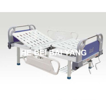 (A-77) -- Double-Function Manual Hospital Bed with ABS Bed Head