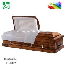 Cercueil en bois massif style américain vente chaude