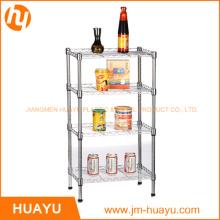4-Tier Metal Chrome Home Living Room Wire Shelving Rack
