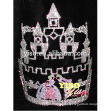 Best seller de promoção de beleza quente venda castelo rainha tiara coroa