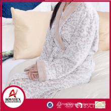 new design super soft breathable microfiber women bathrobe
