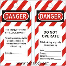 Verrouillage d'étiquette de sécurité en PVC