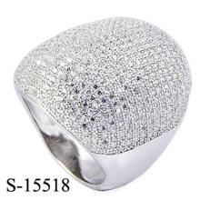 Dernière conception de bijoux de mode Micro Ring avec Zirconia