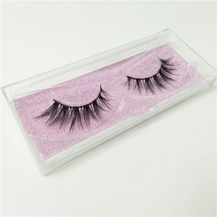 Cheap Glitter Plastic False Eyelash Packaging Box