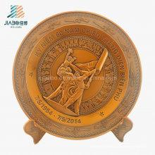 Лучшие продажи Поставка отливок бронзовых 3D Военная Сувенирная тарелка для Вьетнамской