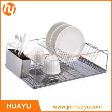 Chrome Wire Dish Rack with Tray and Cup