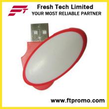 Plástico giratório USB Flash Drive (D202)