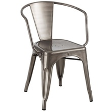 Tolix Metal Transparent Powder Coating Arm Chair