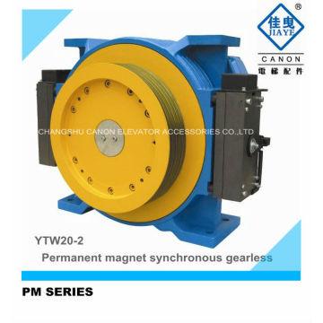 Máquina de tracción de ascensor Gearless síncronos de imán permanente de YTW20-2