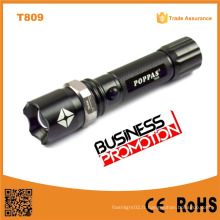 Promotion T809 Zoomable Bright LED Torch Rechargeable Aluminium LED 1101 Police Sécurité Lampe de poche