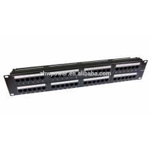 Panneau de raccordement CAT5E / CAT6 / CAT6A à 48 ports - Réseau Ethernet 2U à rack 19 pouces