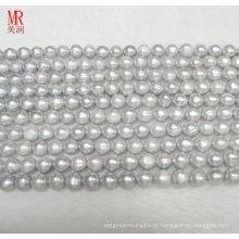 Collier de perles de perles d'eau douce 9-10mm (ES186)