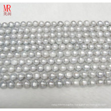 9-10mm Grey Freshwater Pearl Strand Necklace (ES186)