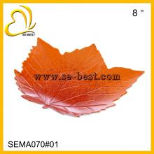 Leaf shape Melamine Plate