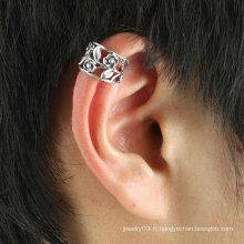 Boucles d'oreille à fleurs avec boucles d'oreille en gros avec or Silver Color EC125