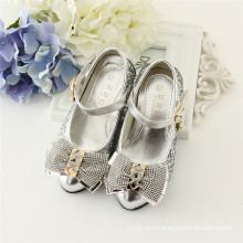 blingbling children party shoes sliver and gold high heel shoes for girl