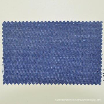 Tissu en laine bleu marine foncé 260g / m