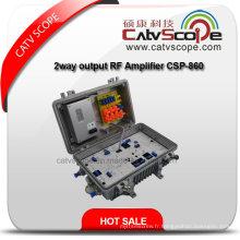 Amplificateur de ligne optique CATV avec sortie 2 voies 220V