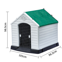 L size outdoor four seasons universal rainproof and warm dog house with iron door