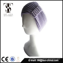 100% acrylic knitted with pearl head band