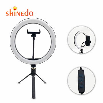 """Ring Light with Stand,10"""" LED Ring Light with Phone Holder with Dimmable 3 Light Modes and 10 Brightness Level for Youtube Video"""