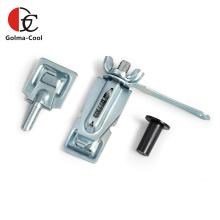 Unité de poignée de quadrant d'amortisseur de conduit d'air galvanisé réglable