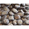 Heißer Verkauf Gravierte Natur Cobble Steine für Vasen