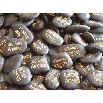 Venta caliente piedras naturales de adoquín para jarrones