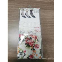 Nylon Spandex Elegante Calcetines de rejilla de encaje para damas negras