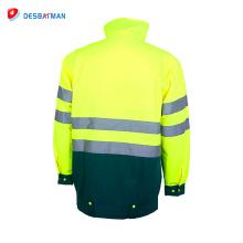 Hola abrigo de invierno reflexivo de la chaqueta de seguridad de los vis 3m