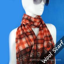 Grid Wool Scarf for Lady