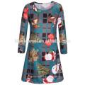 Preço de fábrica Modern Girls Green Dresses Baby Girl Vestido De Festa 3-5 Anos Vestido Da Menina Para O Natal